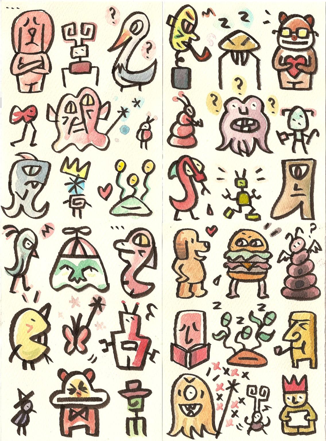 Nine-character postcards